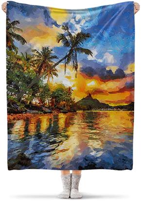 Красивые пледы из лёгкой теплой флисовой ткани, которые можно брать с собой на рыбалку и иное мероприятие на природе. Дома также он украсит собой интерьер вашей квартиры. Дизайн принта для пледа удобно создавать в конструкторе. Много вариантов дизайна одеяла предложена также нашими талантливыми дизайнерами. Есть из чего выбрать в интернет магазине. Печать на одной или двух сторонах - на выбор. Укрыться или постелить такой плед на траву - решение за Вами! С ним Вы можете путешествовать в любую точку мира, а можете накрыться дома с сладко под ним поспать