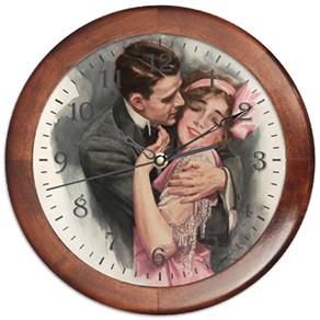 Настенные оригинальные часы в винтажном стиле Пара впишутся с особый интерьер. Покупать лучше себе, поскольку часы не принято дарить. Круглые часы с рамкой имеют диаметр 29 см, два варианта корпуса - из светлого пластика и из тёмного натурального дерева. На картинке представлена деревянная рамка часов Пара