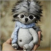 Игрушка Ёжик. Мягкие игрушки мастера Ольги Веселовой из текстиля (ткани), искусственного меха. Оригинальные игрушки авторского производства станут замечательными подарками для детей всех возрастов!