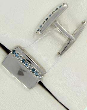 Купить Серебряные запонки в Москве со склада с самовывозом или профессиональной доставкой по России - как и иные драгоценности в нашем интернет-магазине - выгодно!